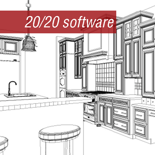 20/20 hidden line rendering composed for a kitchen remodel client