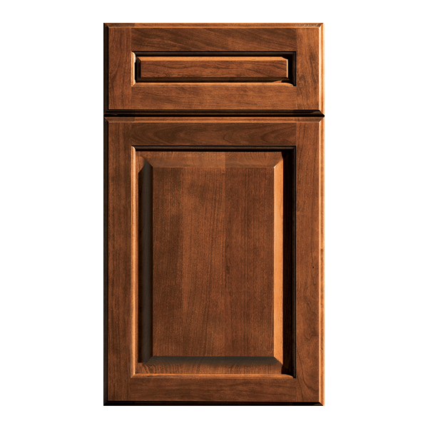 Traditional style Arcadia door by Dura Supreme in warm brown finish on Cherry